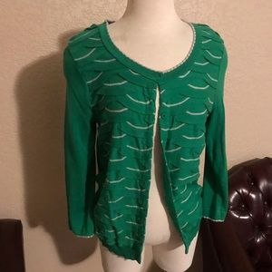 Anthropologie Green Sweater Size Large